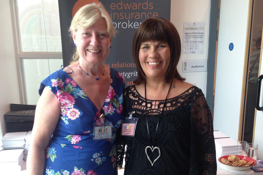 Sandy Edwards and Debra Green OBE