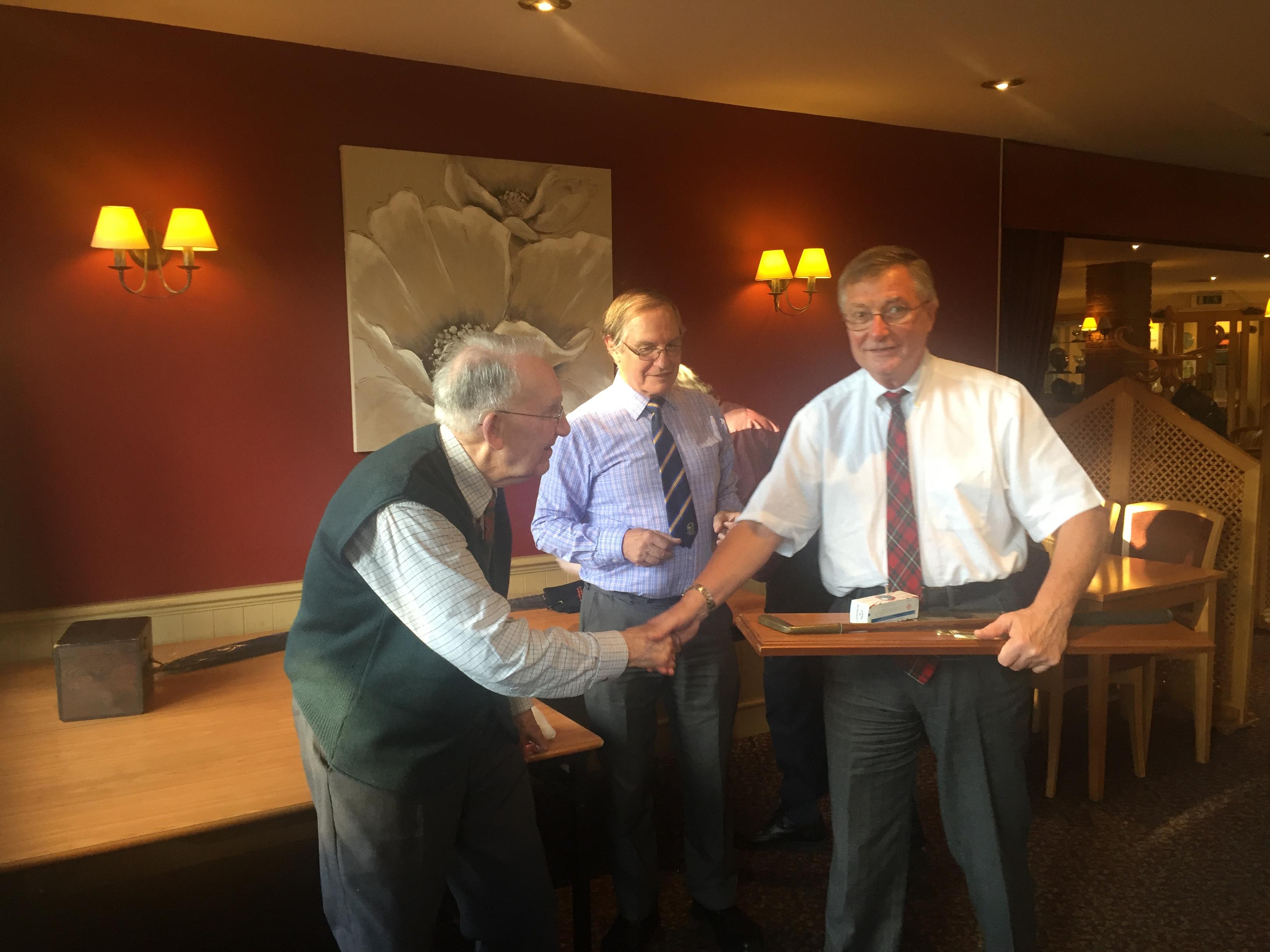 Rev. David Black receiving the Patrcik Figgis Putter at Bromsgrove Golf Club