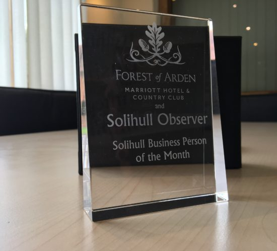 Glass award for Business Person of the Month
