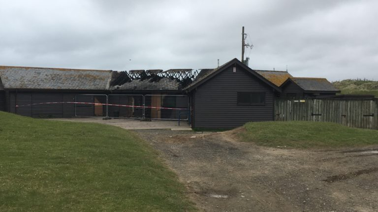 northam burrows burnt out after summer fire